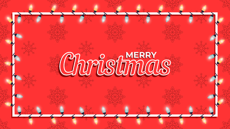 Merry Christmas background. Template for poster, banner or web. Vector illustration Foto de archivo - 127428948