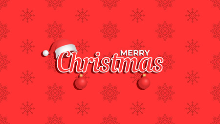 Merry Christmas background. Template for poster, banner or web. Vector illustration Foto de archivo - 127428950