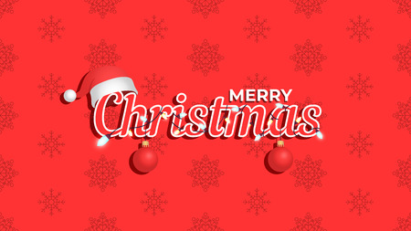 Merry Christmas background. Template for poster, banner or web. Vector illustration Stok Fotoğraf - 127428951