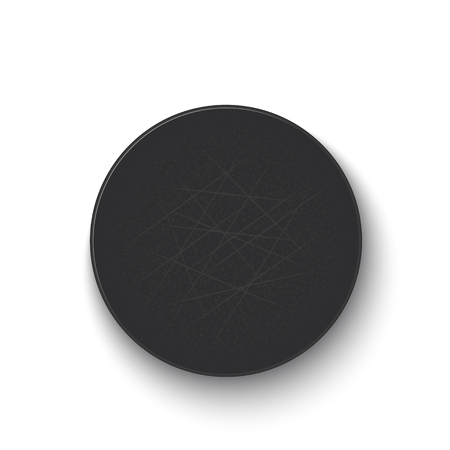Hockey puck isolated on white background. Vector illustration Vetores