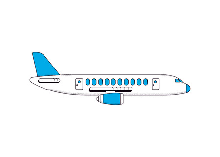 Airplane isolated on a white background. Vector illustration