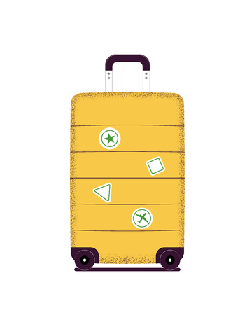 Travel bag tourist stickers. Luggage isolated on a white background. Vector illustration