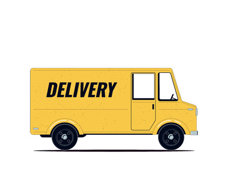 Delivery Truck isolates on a white background. Vector illustration Illustration