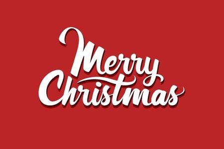 Merry Christmas. Handwritten Lettering. Vector illustration