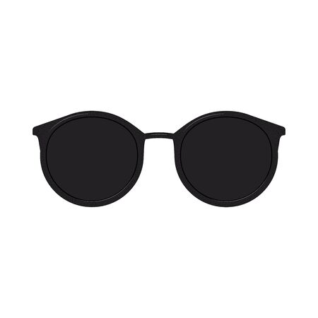 Round Sunglasses isolated on a white background. Vector illustration