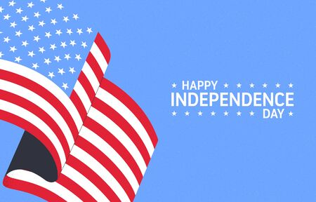 Independence day of USA. 4th of July. Independence Day celebrations in the United States of America. Template for greeting card, poster or flyer. Vector illustration.