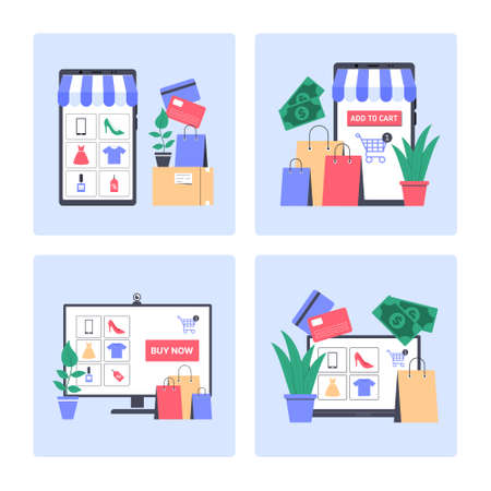Set of Online Shopping Icons Vector illustration