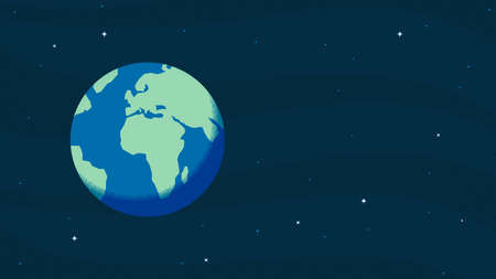 Happy Earth Day The Earth from Space Vectores
