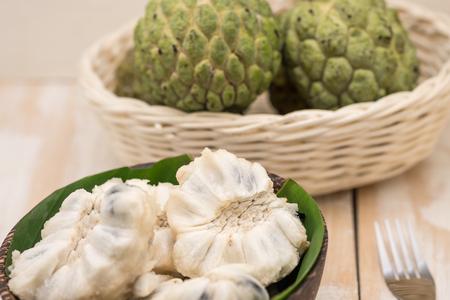 custard apples: Fresh and sweet custard apples for tropical fruit, Thai dessert