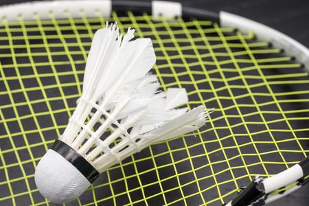 hot temper: Raqueta de bádminton roto con volante a fondo del juego
