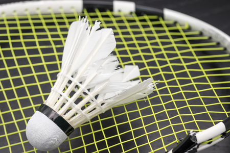 hot temper: Raqueta de b�dminton roto con volante a fondo del juego