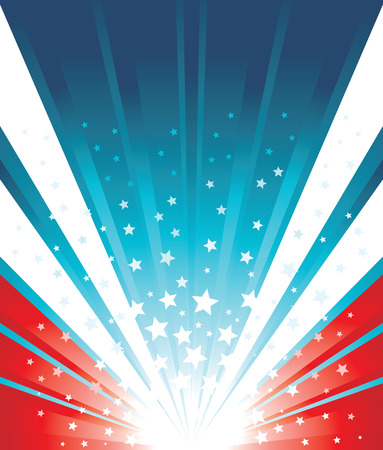 USA Flag Background Illustration
