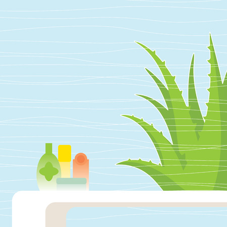 vera: Aloe vera Illustration