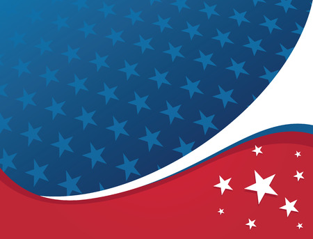 American Patriotic Background - Star Illusztráció