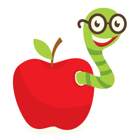 Apple worm Vector