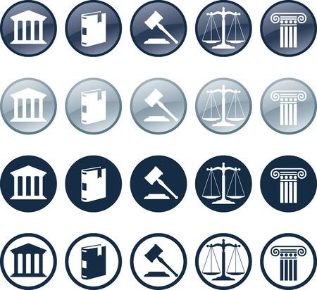 Advocaat pictogram Vector Illustratie