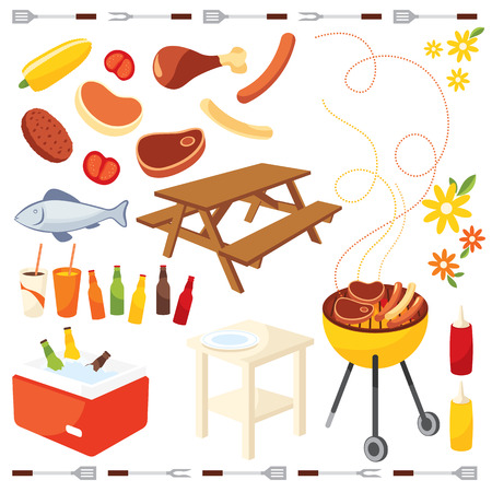 barbeque: BBQ-pictogram