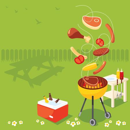 summer drink: BBQ Party Illustration