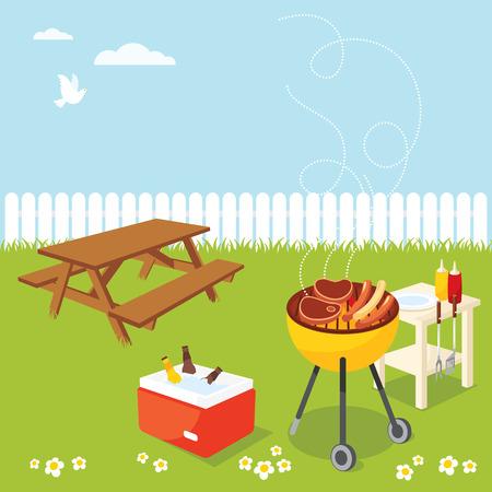 barbecue: Groupe de barbecue Illustration