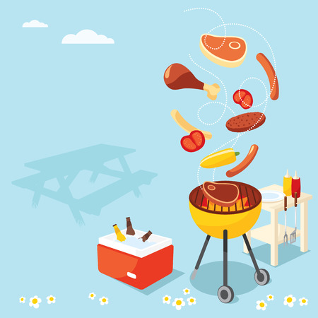 beer party: BBQ Party Illustration