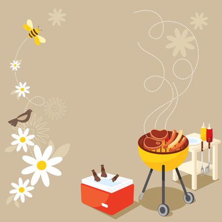 barbecue: BBQ Party Illustration