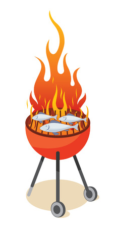 BBQ grill - fish Stock Vector - 6720806