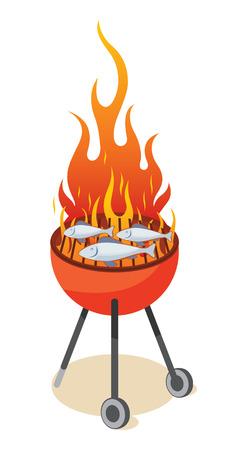 BBQ grill - fish Stock Vector - 6720806