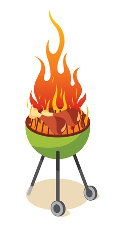 BBQ grill - chicken leg Illustration