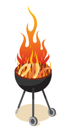 BBQ grill - hot dog Stock Vector - 6720804