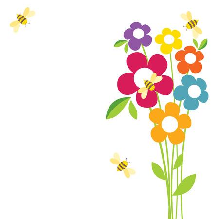 scenic background: Bee Life Illustration