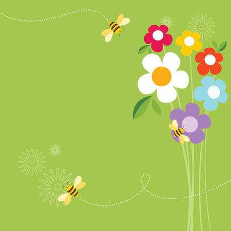 blossom honey: Bee Life Illustration