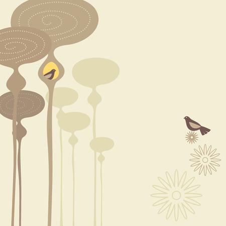 Bird Life Vector