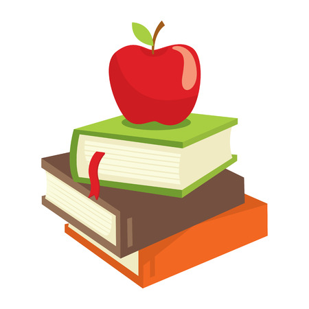 bookish: Book and apple
