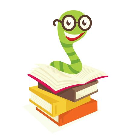 Bookworm Stock Vector - 6767630