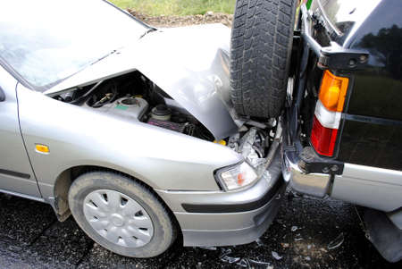 Car accident on the highway Stock Photo - 8249947