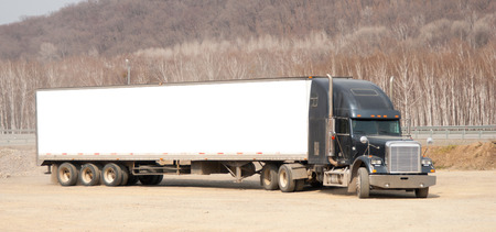 forwarding agency: A large truck in the Parking lot