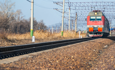 diesel locomotives: The train moves by rail