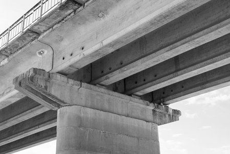 Reinforced concrete bridge support Banco de Imagens