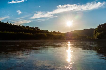 Taiga river in the far East of Russia.