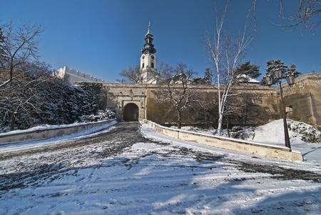 Nitra castle in Winter, seat of Pribina