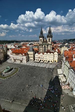 tynsky church: Tynsky church. Old Town Square, Prague, Czech Republic