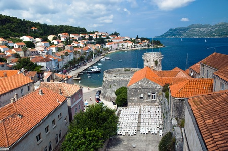 Small Island town Korcula in Croatia photo