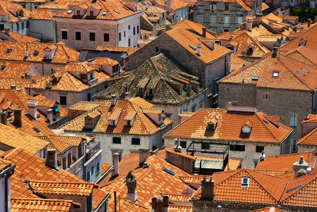 Roof of Dubrovnik in Croatia photo