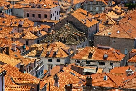 Roof of Dubrovnik in Croatia photo