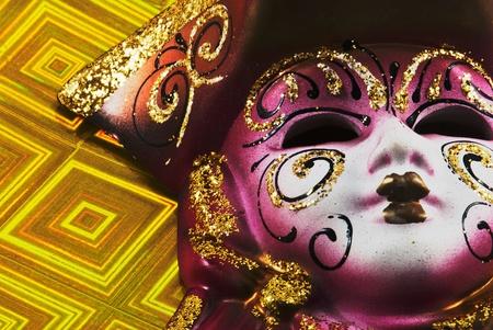 Close up of masquerade carnival mask