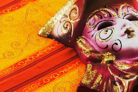 Close up of masquerade carnival mask photo