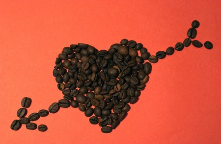 Valentines Day Coffee Heart with Arrow photo
