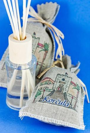 air diffuser: Detail of decorative bag of lavender
