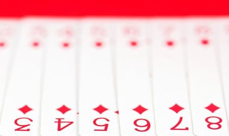 leisure games: Detail of joker playing cards Stock Photo