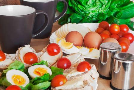 Image of health breakfast arrangement photo
